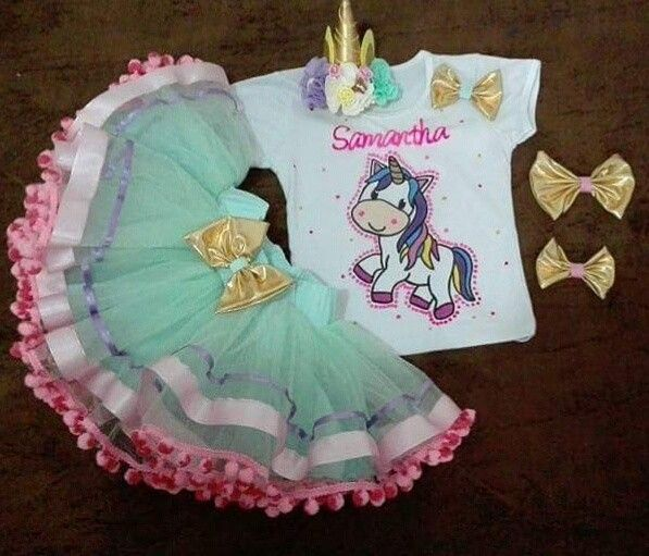 Conjunto tutu personalizado unicornio Abilia shopping Whatsapp 3132196957