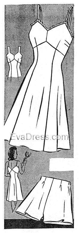1940's Panties & Slip, U40-8261