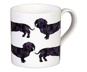 Mug porcelaine à la cendre d'os, violet et blanc - 275 ml 9 €graduate collection