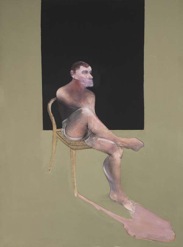 "Francis Bacon (British, 1909-1992), Portrait of John Edwards, 1988, Oil on canvas, 77-15/16 x 58-1/16"", The Estate of Francis Bacon, courtesy Faggionato Fine Arts, London, and Tony Shafrazi Gallery, New York, © 2009 The Estate of Francis Bacon / ARS, New York / DACS, London."