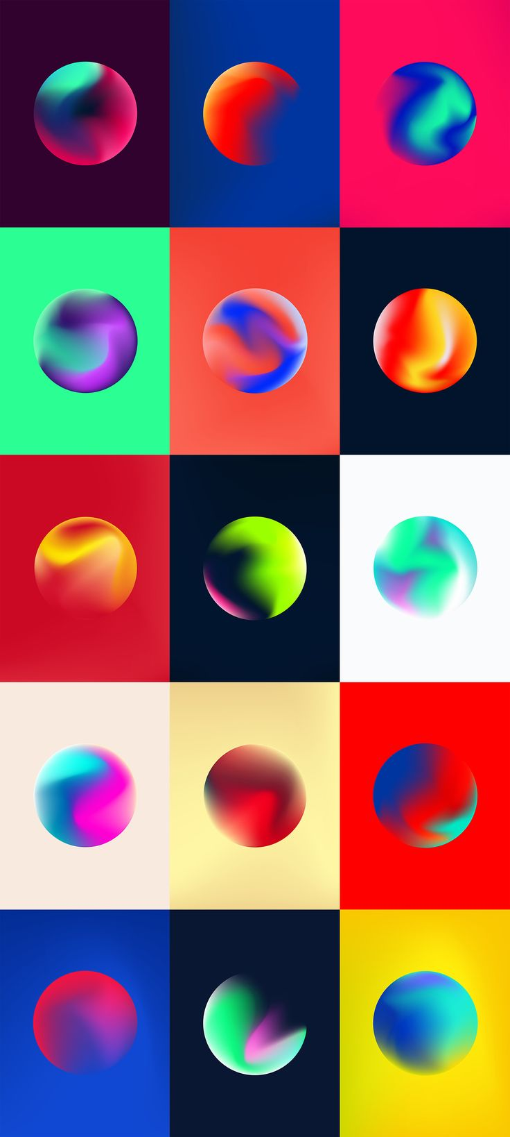 Wouldn't it be fun to designing your own planets? An experiment in colour and form. Get the free wallpapers, I'll also be offering prints if anyone is interested. Thanks!