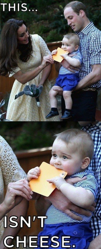 THAT HE CAN'T BE FOOLED BY AN ORANGE SQUARE. | 16 Thoughts Prince George Has Had While On The Royal Tour