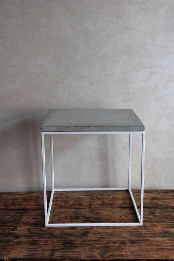 Concrete Side Table Top Tables Etsy