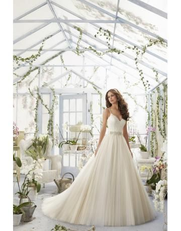 Tulle Cerniera Naturale Abiti da sposa di lusso