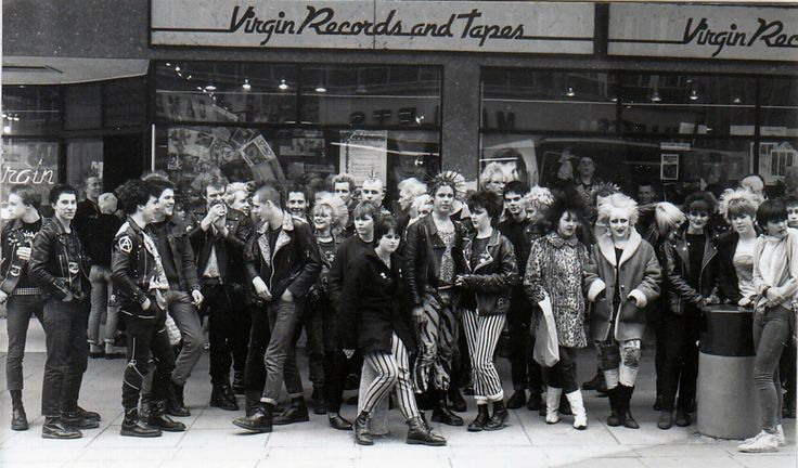 Virgin-Records-and-Tapes-punks-in-Bristol-1980 - I was a sanitised punk