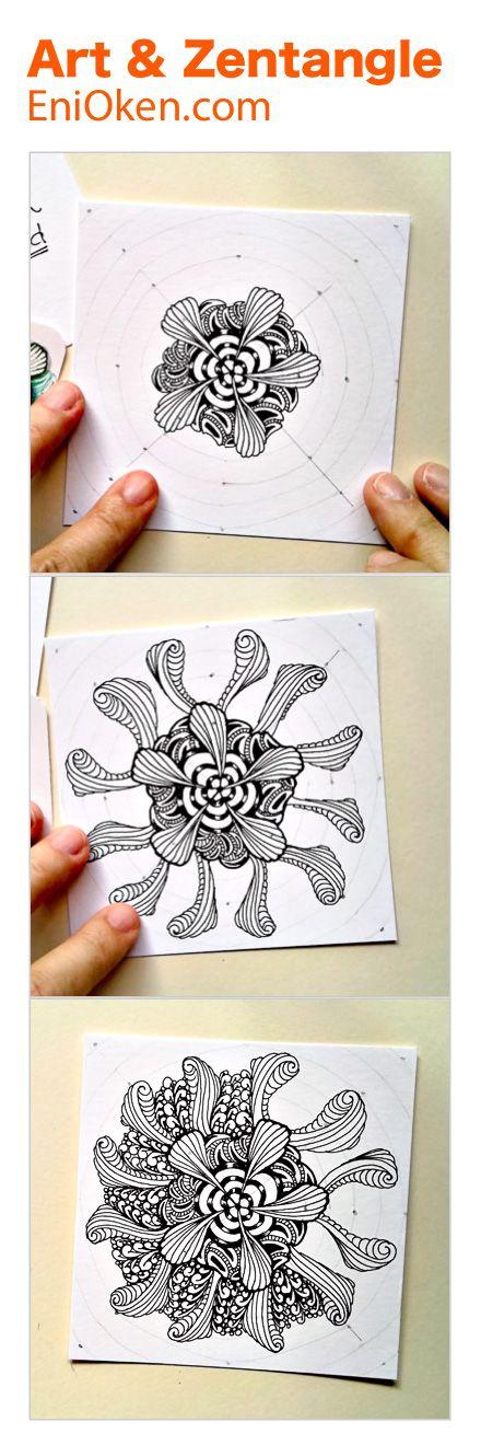 Learn how to create beautiful Zendala & Zentangle®️ • enioken.com