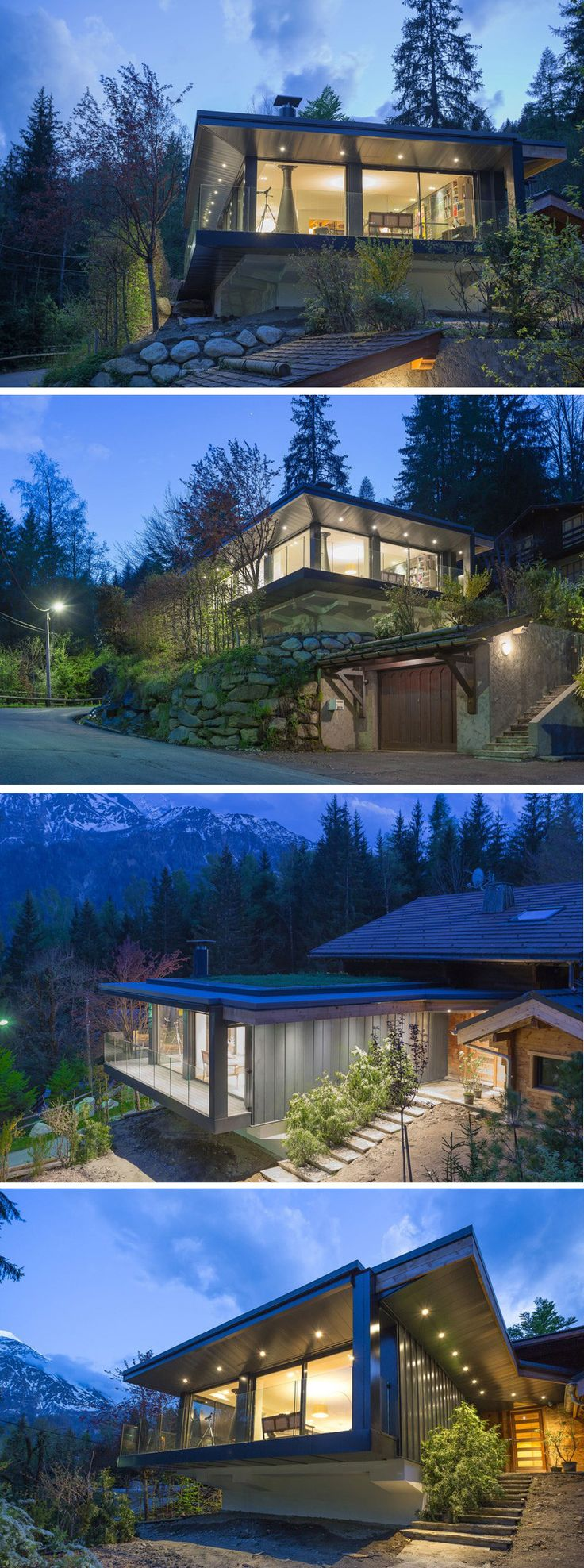 Chevallier Architectes have completed the renovation and addition to a chalet…