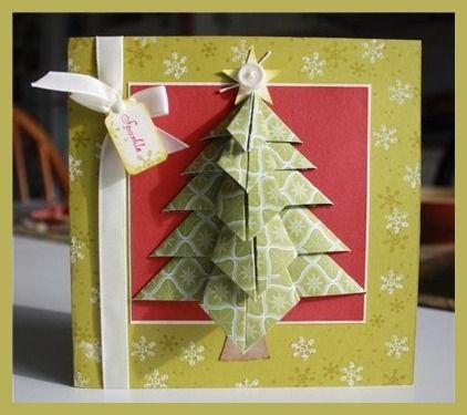 Как сделать открытку оригами на Новый год