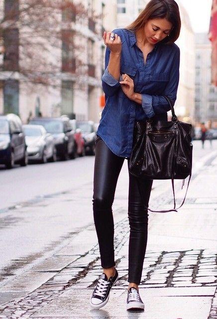 treintamasdiez blog de moda leggins cuero nina