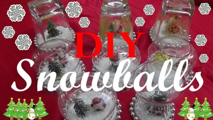 DIY Christmas Snowballs❄️Χιονόμπαλες