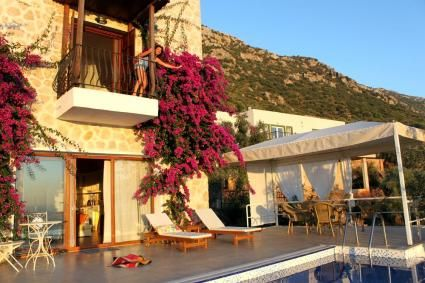 Luxury #Villa Kybele offers a fantastic view of #Kalkan for your next #holidays in #Turkey