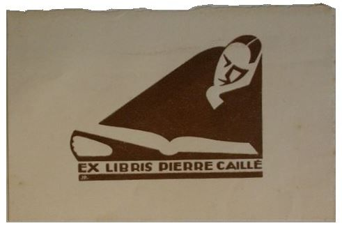 Book plate - ex libris - of Pierre Caille