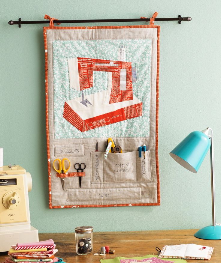 640 Photo Credit Sewing Organizer in The Paper Pieced Home by Penny Layman, published by Interweave, available Dec 2014
