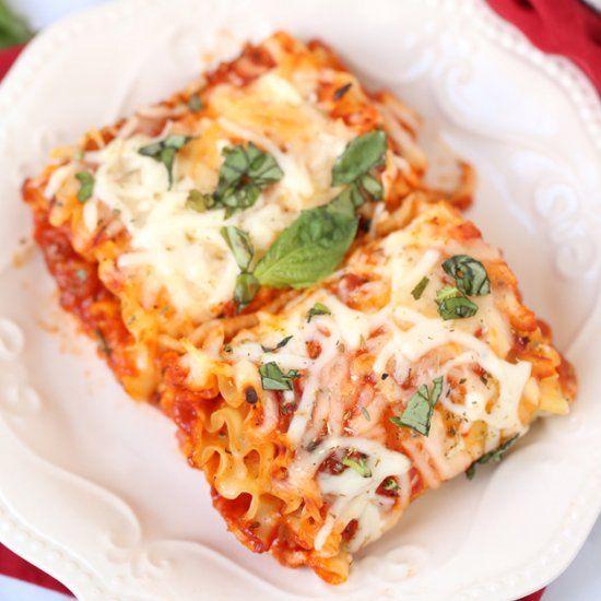 Easy Meatless Lasagna Rolls