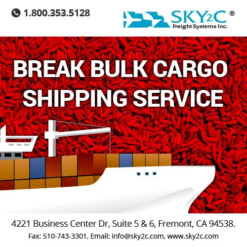 If you are wondering why should you choose #Break_Bulk #Cargo#Shipping Service for Transportation of goods then we have the answer to your question - Call us at 510-743-3300.