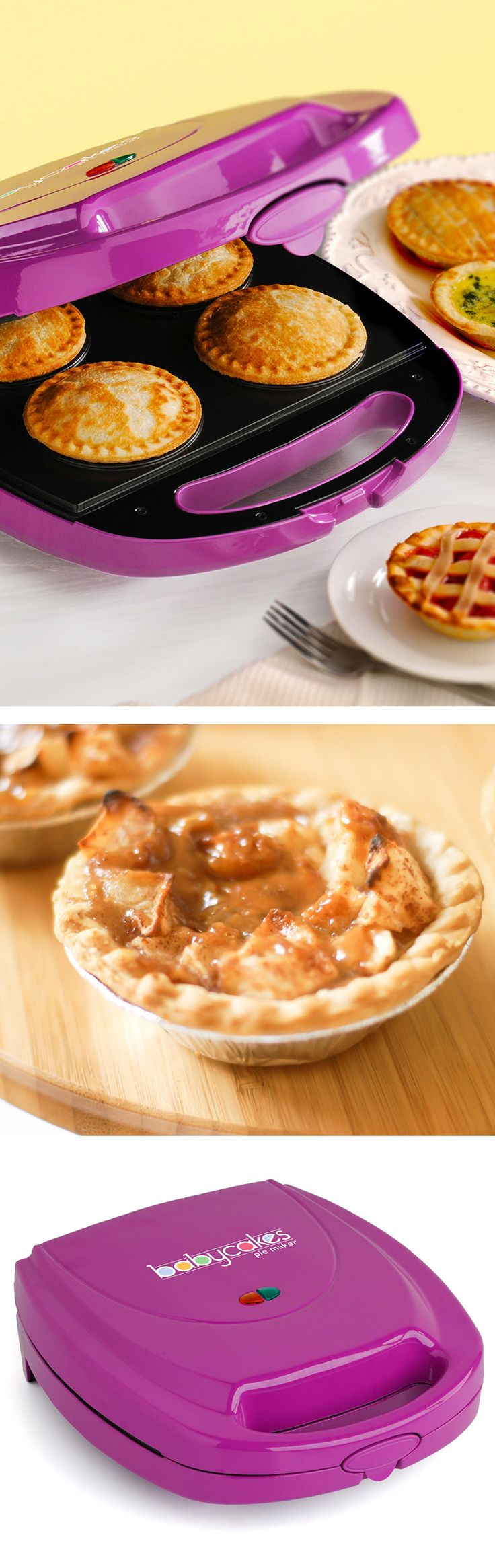 Mini pie maker in purple // oh yum! perfect for parties! Can make any pie or quiche in 10-15mins #radiant_orchid