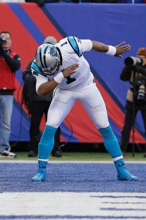 Cam Newton and his stupid dab. I hope when his bust goes in the Hall of Fame they throw a towel over his head, just like he does on the sideline.