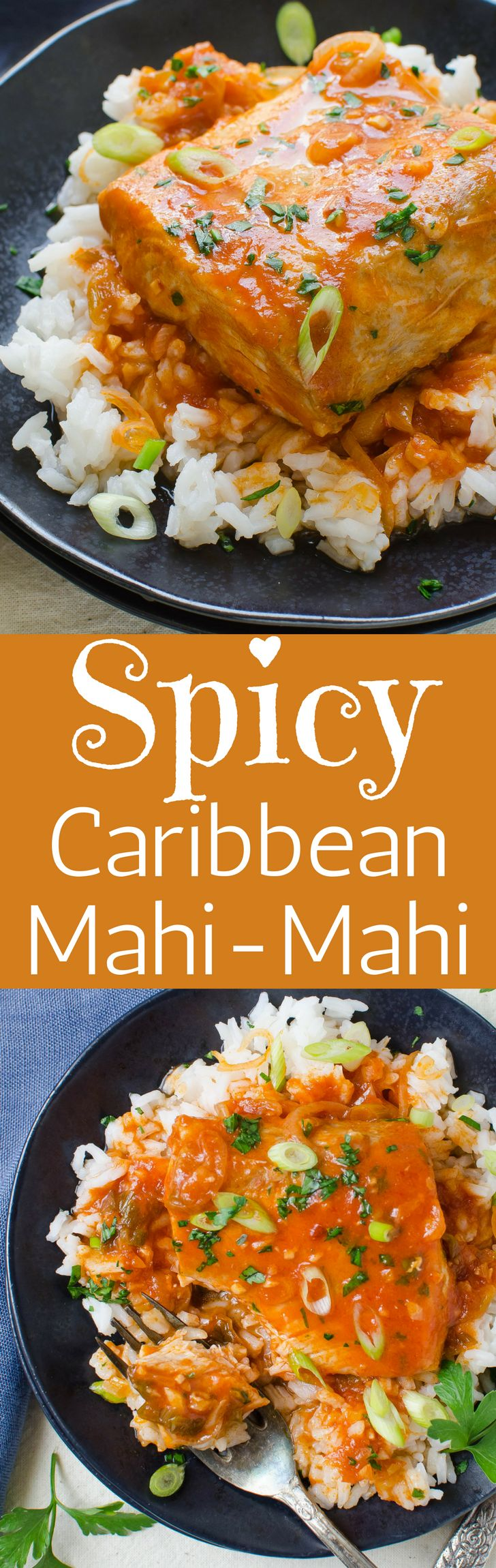 The easiest way to cook fish is poached in an island-style tomato sauce. Spicy Caribbean Mahi Mahi is a healthy and satisfying main course.