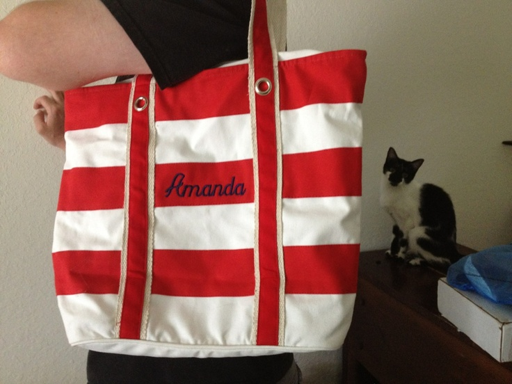Simply Bags: Personalized Stripe Canvas Tote