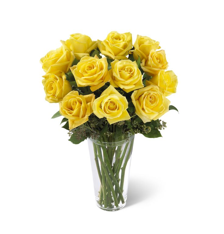 The Yellow Rose Vase ArrangementS38 4307