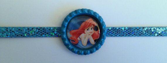 Boutique Bottlecap Bracelet Ariel Image Party Favors Buckle Belt