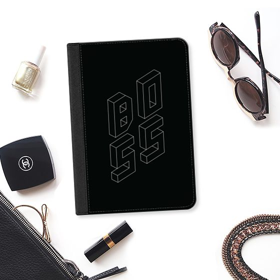 BOSS iPad Case by Fimbis | Casetify  #ipadpro #geometric #typography #bosslady #accessories #ipadmini #bosslife #bossbabe #bossassbitch #blackandwhite #monochrome #ipadair #ipad