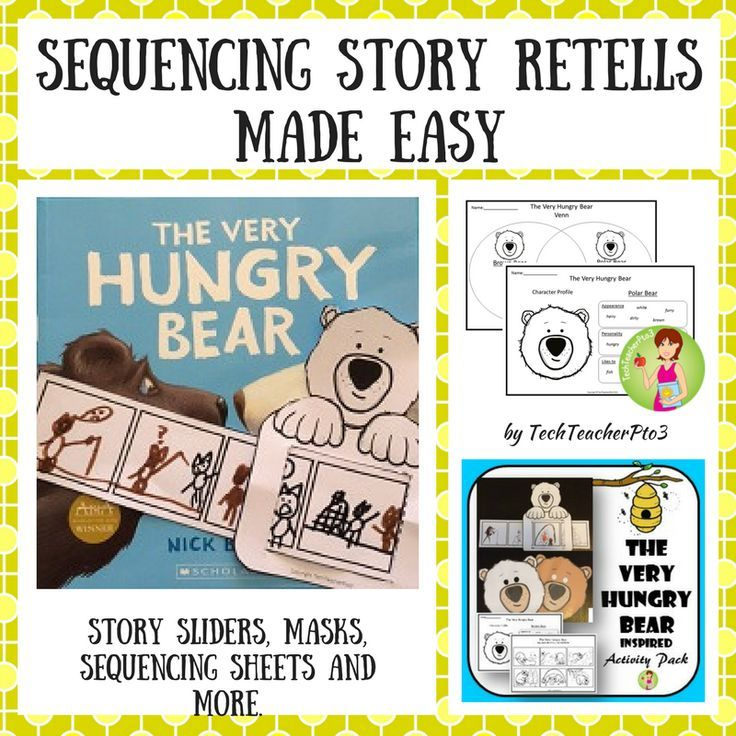 This activity pack has been inspired by the Nick Bland story The Very Hungry Bear and will assist your students to practice retelling and sequencing stories.