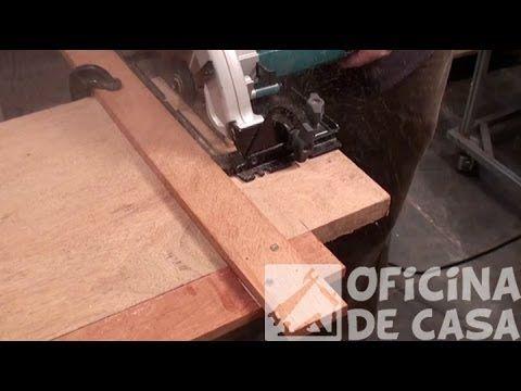 Gabarito de corte para serra circular manual - YouTube