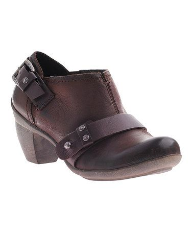 Work shoes, yay!!!  Take a look at this Dark Brown El Reno Bootie by OTBT on #zulily today!