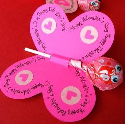 Lollipop Butterfly Valentine- Free Printable