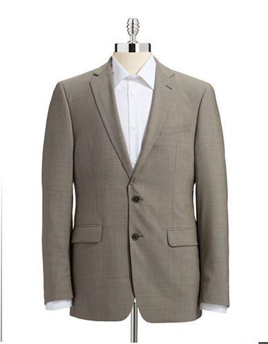 CALVIN KLEIN Slim Fit Suit Separate Jacket - BEIGE - Fashion Deals