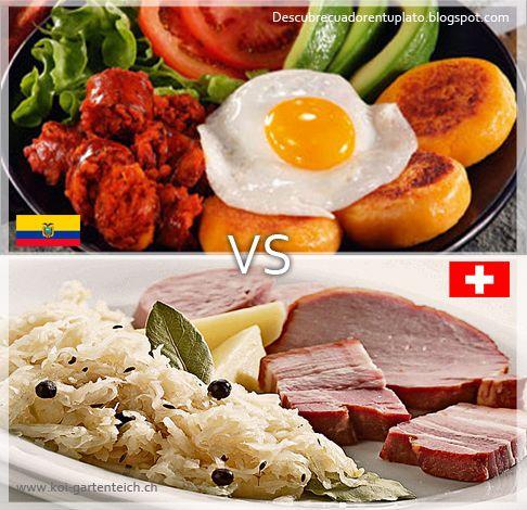 Que mejor manera de pasar un domingo viendo el primero de tres encuentros mundialistas. Suiza vs Ecuador, quien saldrá con la victoria!!! El berner platte suizo o llapingacho ecuatoriano.
