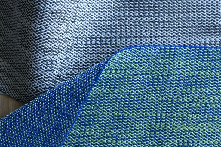 Salone del Mobile novelty. With an ikat-like, streaky pattern, @doshilevien's new Lila textile is woven with an irregular weft yarn, giving it a lively surface.