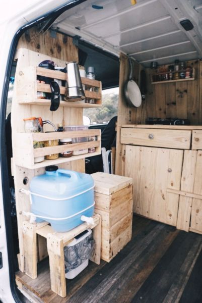 compact kitchen for cabin or camper - maybe summer kitchen at semi or permanent camp(Camping Hacks) (Camping Hacks)