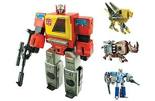 Transformers ~ It wasn't tough to be excited about Transformers as a kid in the 1980s. Magical alien machines that could be reassembled to assume the identities of everyday automobiles, they were adapted by Hasbro from a pair of Japanese toys from Takara: the Diaclones and the New Microman. With a slight redesign and a new story line, Transformers hit the American shores in 1984.