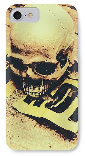 Skull IPhone 7 Case featuring the photograph Scary Human Skull by Jorgo Photography - Wall Art Gallery