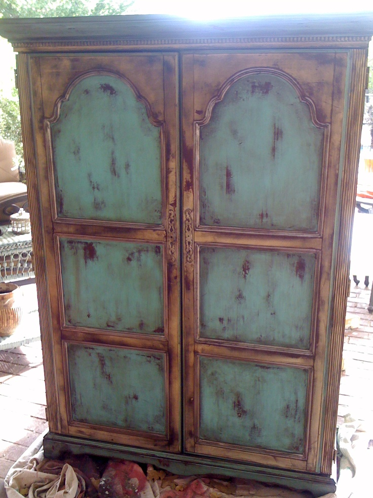 Hand Painted Armoire At Theodaurau0027s Located At Feathered Nest Market In OKC