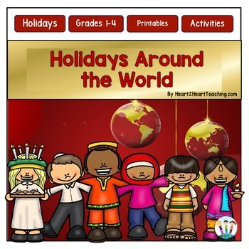 This FUN Holidays Around the World BUNDLE includes reading passages, activities and vocabulary posters for 8 winter holidays: Hanukkah Kwanzaa Las Posadas Diwali Christmas St. Lucia's Day La Befana Christmas in Canada For each holiday in this bundle there are two reading passages, activities, vocabulary, and a flip book.