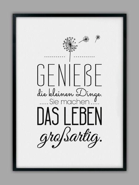 """""""GENIEßE DAS LEBEN"""" Kunstdruck von Smart-Art Kunstdrucke auf DaWanda.com"""