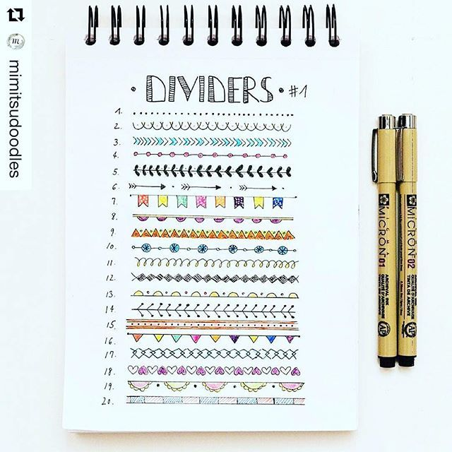 Add some colorful dividers to your bullet journal or #planner. Courtesy of…