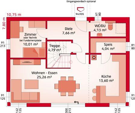 "Haustyp ""Classic 139 S Dachfirst offen"" - HARTL HAUS"
