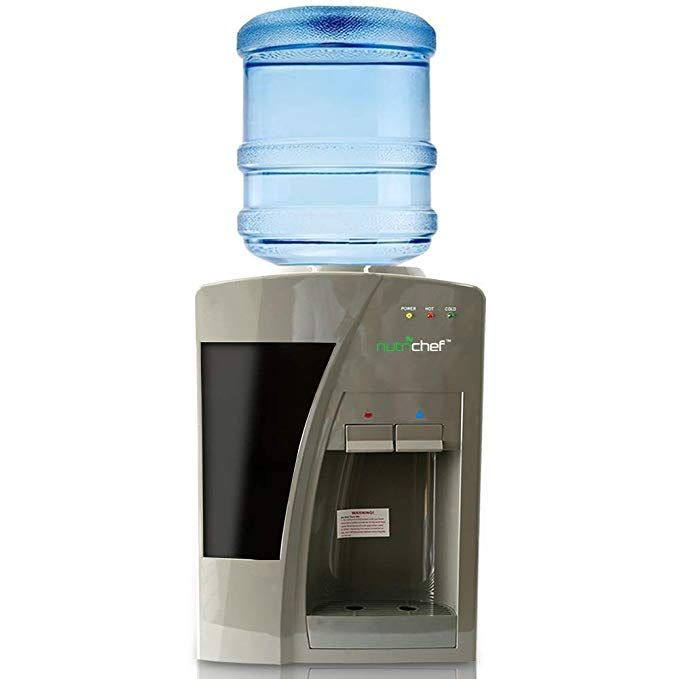 Nutrichef Azpktwc20sl Upgraded Countertop Cooler Dispenser Hot Cold Water Holds 3 Or 5 Gallon Bottles Review Cold Water Bottle Dispenser