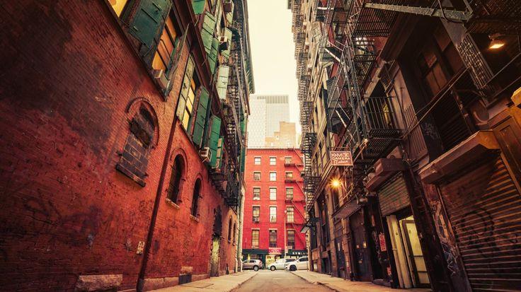 Скачать обои соединенные штаты америки, нью-йорк, раздел город в разрешении 1366x768