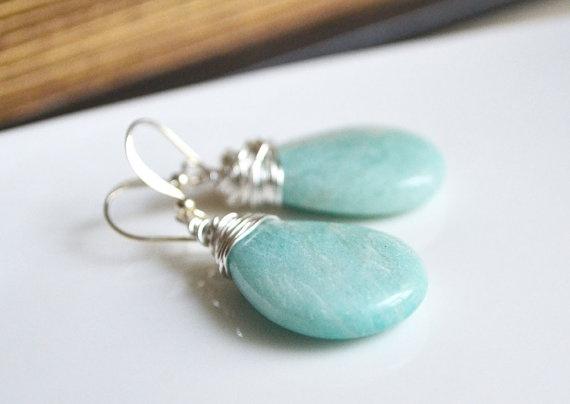 Amazonite Earrings on sale! Sale ends June 13 Morning