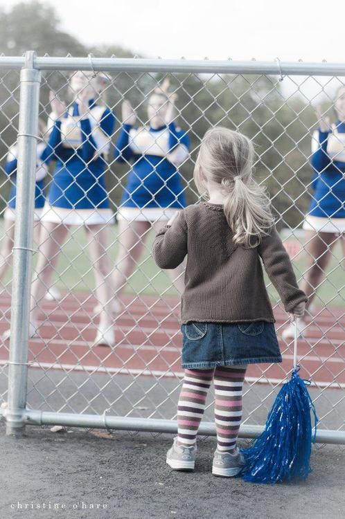 """There's always a little girl looking up to you thinking she wants to be like you."" I remember when my dad took me to college basketball games and I always liked watching the cheerleaders. Now I'm one of the cheerleaders the little girls look up to. :)"