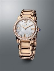 david yurman classic watch in rose gold and diamonds available at alson jewelers