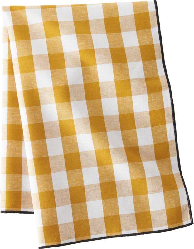Golden Yellow Gingham Dish Towel Golden Yellow Gingham