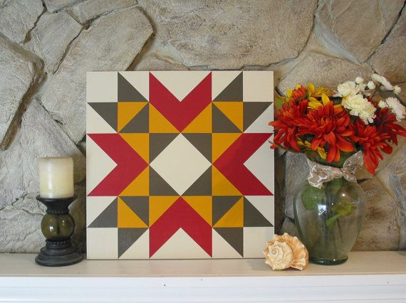 This beautiful barn quilt would look great hanging in your living room or above the fireplace. It has a thick coat of exterior polyurethane