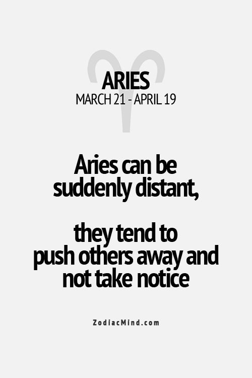what happens ignore aries