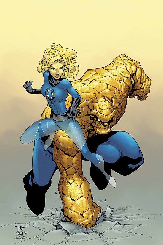 The Thing and Sue Storm by Randy Green